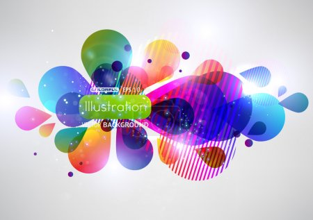 Illustration for Vector illustration of soft colored abstract background - Royalty Free Image