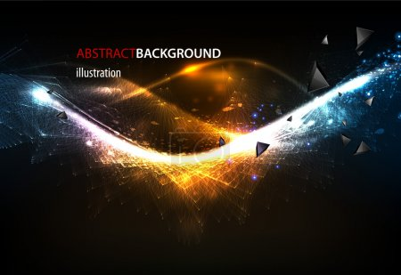 Illustration for Abstract glow techno background - Royalty Free Image