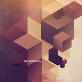 Abstract retro cubes background vector illustration