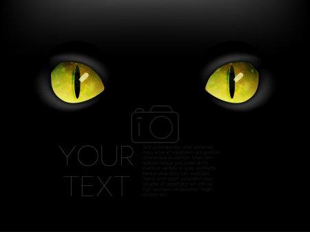 Illustration for Animal eyes, black background. - Royalty Free Image
