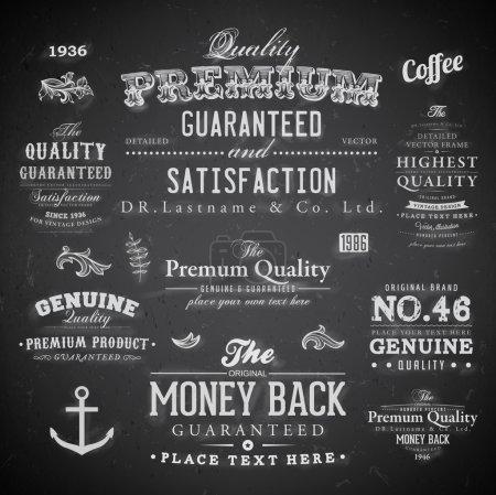 """Photo pour Ensemble d """"étiquettes de boulangerie rétro, rubans et cartes pour le design vintage, textures de papier anciennes - image libre de droit"""