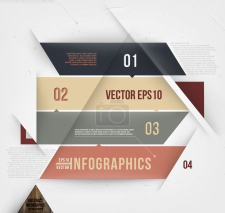Moder abstract banner design for infographics, business design and website templates, cutout lines and numbers, retro colors.