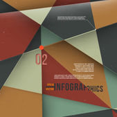Modern abstract banner design for infographics, business design and website templates, cutout lines and numbers, retro colors.