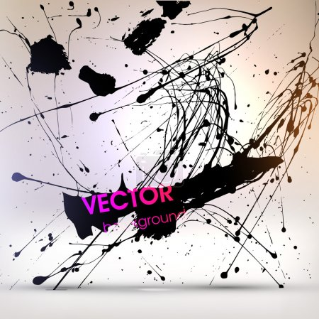 Illustration for Abstract Texture Background, Black Paint Splatter, vector illustration - Royalty Free Image