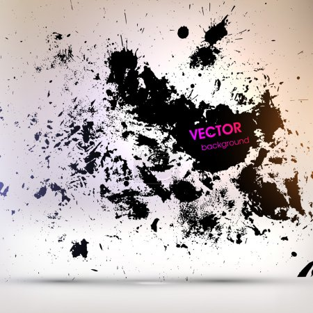 Illustration for Black Paint Explosion, Abstract Background, Vector - Royalty Free Image