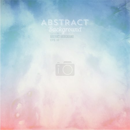 Illustration for Soft colored abstract background for design. Watercolor texture effect. Eps 10 vector. - Royalty Free Image