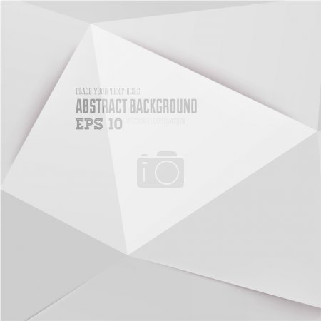 Illustration for Abstract geometric white background for modern design - Royalty Free Image