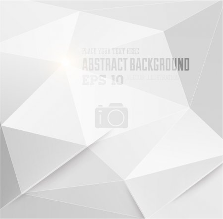 Abstract geometric white background for modern design