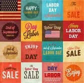 American Labor day designs set