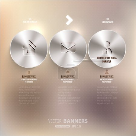 Modern infographic template for business design.