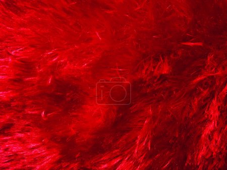 Red fur texture background.