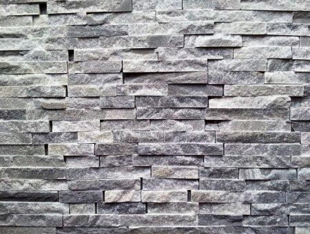 Black stone wall