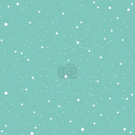 White snow falling on blue background