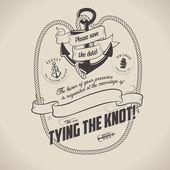 Vintage nautical themed wedding invitation