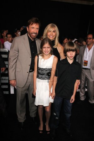 Chuck Norris and family