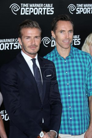 David Beckham and Steve Nash
