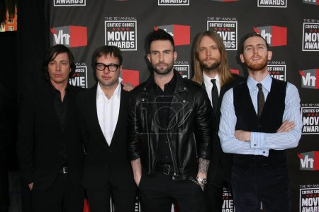 Photo for Maroon 5 at the 16th Annual Critics' Choice Movie Awards Arrivals, Hollywood Palladium, Hollywood, CA. 01-14-11 - Royalty Free Image