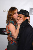 Jenny Leeser and Clinton Wallace at the premiere of Cinema Epochs Violen