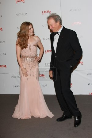 Photo pour Amy Adams, Clint Eastwood au LACMA Art Film Gala en l'honneur de Clint Eastwood et John Baldessari, LACMA, Los Angeles, CA 11-05-11 - image libre de droit