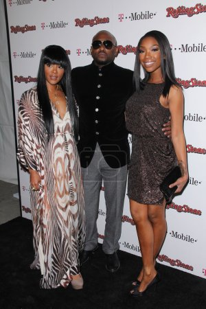 Keisha Epps, Omar Epps, Brandy Norwood at the Rolling Stone Awards Weekend Party, Drais, Hollywood, CA. 02-26-11
