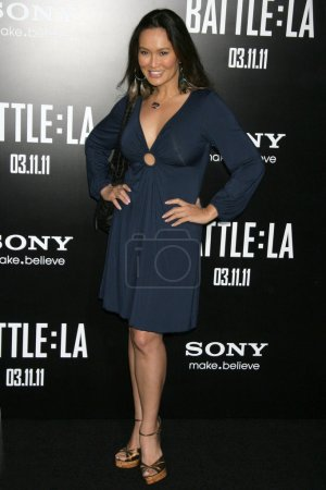 """Photo for Tia Carrere at the """"Battle: Los Angeles"""" Los Angeles Premiere, Village Theatre, Westwood, CA. 03-08-11 - Royalty Free Image"""
