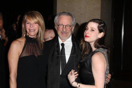Kate Capshaw, Steven Spielberg, Sasha Spielberg