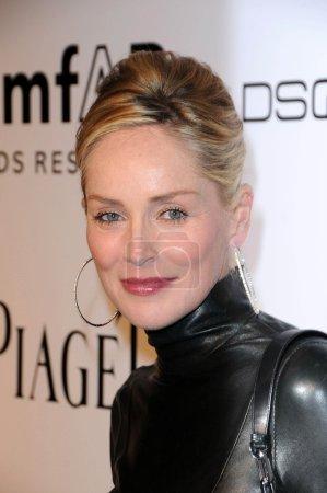 Sharon Stone at amfAR Inspiration Gala Celebrating...