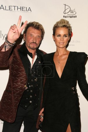 Johnny Hallyday Laeticia Hallyday at