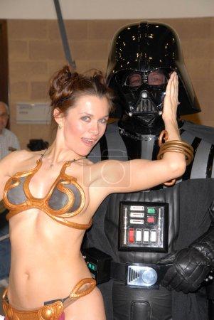 Photo for Alicia Arden as Princess Leia with Darth Vader at the Pasadena Rockn Comic Con Day 2, Pasadena Convention Center, Pasadena, CA. 05-29-10 - Royalty Free Image