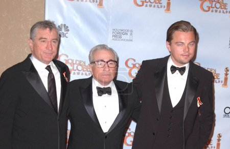Photo for Robert De Niro, Martin Scorsese and Leonardo DiCaprio at the 67th Annual Golden Globe Awards Press Room, Beverly Hilton Hotel, Beverly Hills, CA 01-17-10 - Royalty Free Image