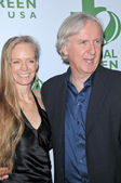 Suzy Amis and James Cameron at the 7th Annual Glob