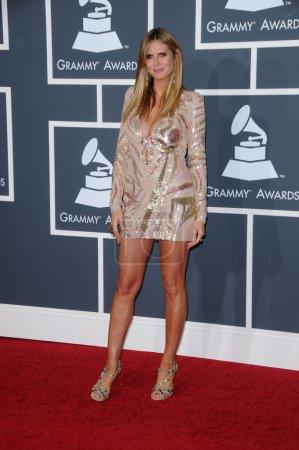 Heidi Klum at the 52nd Annual Grammy Awards - Arri...