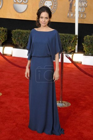 Photo for Angelina Jolie at the 15th Annual Screen Actors Guild Awards. Shrine Auditorium, Los Angeles, CA. 01-25-09 - Royalty Free Image