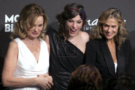 Jessica Lange with Milla Jovovich