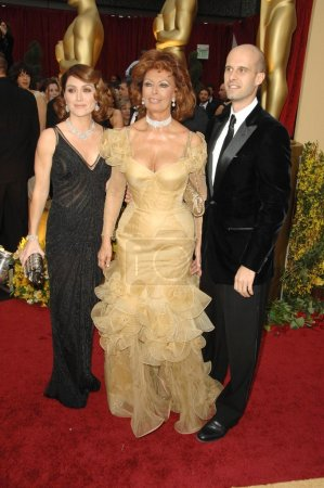 Sasha Alexander with Sophia Loren and Edoardo Ponti