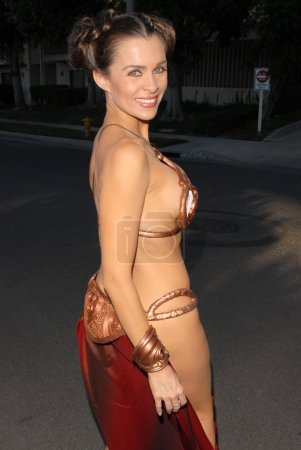 Photo for Alicia Arden one of many celebrities wearing a Princess Leia Slave Girl costume from Star Wars at the West Hollywood Halloween Celebration, Various Locations, West Hollywood, CA 10-31-09 EXCLUSIVE - Royalty Free Image