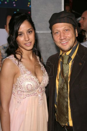 Photo for Rob Schneider and guest at the Los Angeles Premiere of 'Bedtime Stories'. El Capitan Theatre, Hollywood, CA 12-18-08 - Royalty Free Image