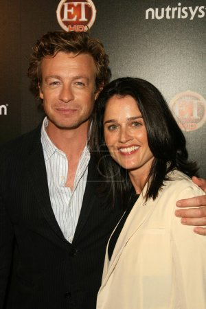 Simon Baker and Robin Tunney at TV Guide Magazine'...