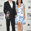 Simon Baker and Robin Tunney in the press room at ...