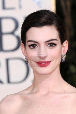 Photo pour Anne Hathaway au 66e Golden Globe Awards annuel. Beverly Hilton Hotel, Beverly Hills, CA 01-11-09 - image libre de droit