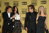 Paul McCartney and Nancy Shevell with Kevin Bacon and Kyra Sedgwick at the 15th Annual Critic's Choice Awards, Hollywood Palladium, Hollywood, CA. 01-15-10