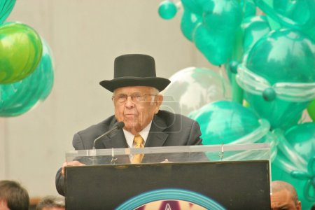 Johnny Grant at a ceremony