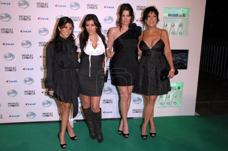Photo for Sisters Kardashian and Kris Jenner at the 's Choice Awards Nomination Announcement Party. Area, West Hollywood, CA. 11-08-07 - Royalty Free Image