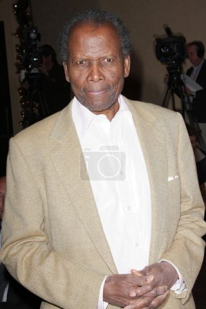 Sidney Poitier at the unveiling ceremony for the n...