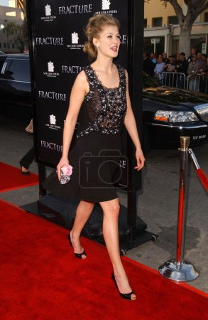 Photo for Rosamund Pike at the Los Angeles premiere of 'Fracture'. Mann Village Theatre, Westwood, CA 04-11-07 - Royalty Free Image