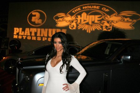 "Photo for Kim Kardashian at ""House of Hype"" Grammy Weekend 2007. Roosevelt Hotel, Hollywood, CA. 02-10-07 - Royalty Free Image"