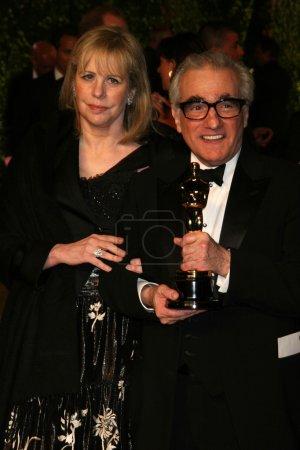 Helen Morris and Martin Scorsese