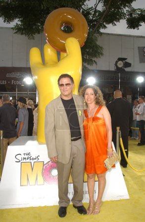 Albert Brooks and wife Kimberly at the World Premiere of The Simpsons Movie. Mann Village Theatre, Westwood, CA. 07-24-07