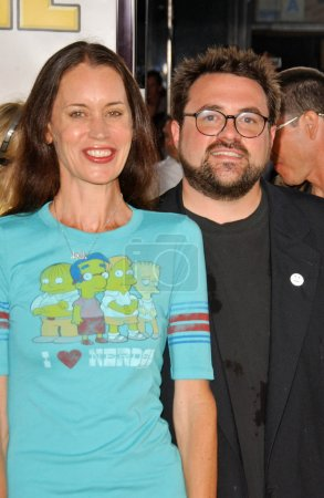 Kevin Smith and Jennifer Schwalbach Smith at the World Premiere of The Simpsons Movie. Mann Village Theatre, Westwood, CA. 07-24-07