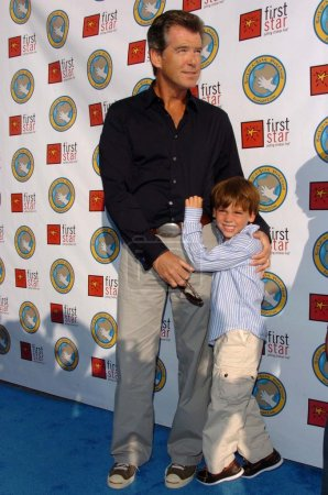Pierce Brosnan and son Dylan